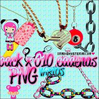PACK X 010 PNG CADENAS CHAINS CUTS + by xRadioHysteriax