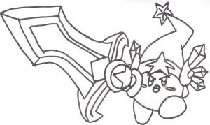 Sword Kirby From Return to Dreamland for the Wii by Nikko-Usagi