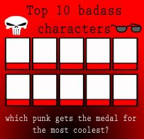 Top ten badass characters meme by porygon2z