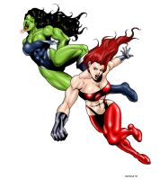 Aftermath: She Hulk 3 by andrewr255
