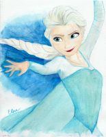 Elsa from Disney's Frozen (Watercolor) by julesrizz
