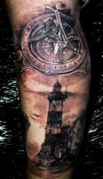 Compass by yugtattoo