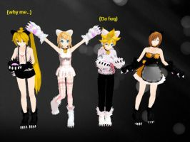 MMD Project diva Neko models by MercyMercyXXX