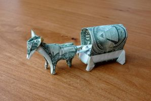 Dollar Origami Horse and Buggy by craigfoldsfives