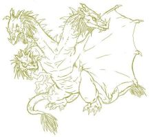 Ghidorah Sketch by boper9