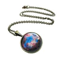 Antique Bronze Supernova Explosion Necklace by crystaland