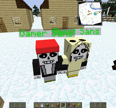 Gamer and Ghost Sans Minecraft skins by AGiLE-EaGLE1994