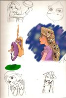 Rapunzel Sketchdump by accioglee