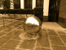 Big Ball Bearing near St Paul's Cathedral by StevenARTify