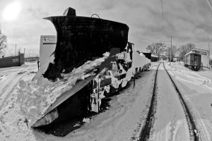 Old Railcar Plow by lividity101