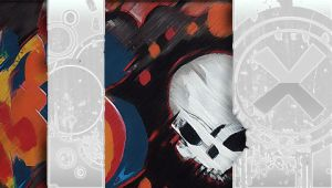 Skull Graffiti PSP wall by DeviantSith