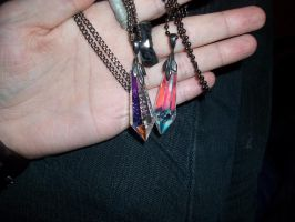 Twin crystal necklaces by Ceraine