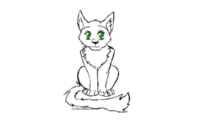 Cat Lineart by Hawkmaskwarrior