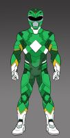MMPR Green Ranger Concept WIP by monstrous64