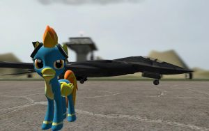 Spitfire on the airport by GeneralThunderbat
