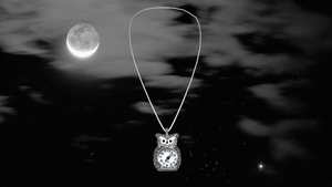 Clock Owl Necklace by blazincheshirecat