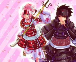 Sasuke and Sakura_Samurai!! by Yuri-chan24