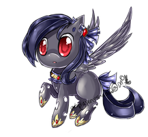 Bonus raven chibi pony by AquaGalaxy