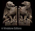 stone dragon bookends by Reptangle