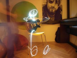 Light Painting Guitar Tuning by Tristianski