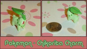 Pokemon - Chikorita Charm by YellerCrakka