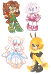 Female Chibi Adoptables (CLOSED) by A7omsk