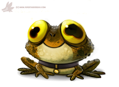 Daily Paint #999. ALL GLORY TO THE HYPNOTOAD (FA) by Cryptid-Creations