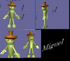 green 3d characther by Mikiel