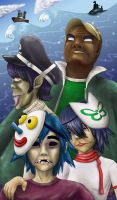 Gorillaz Plastic Beach by CrimsonskyR