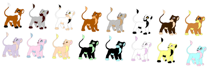 Lion Cub Adoptables [2 POINTS EACH/OPEN] by makeradopts
