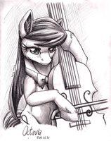 Pencil Portrait - Octavia by InuHoshi-to-DarkPen