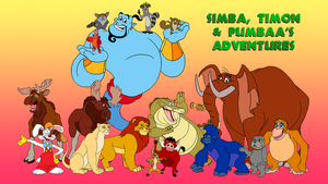 Simba, Timon and Pumbaa's Adventures Wallpaper by BennytheBeast