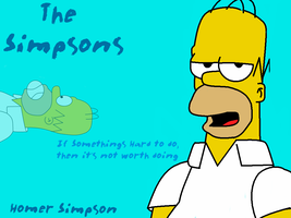 Homer Simpson Wallpaper by LeeRoberts