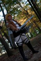 attack on Titan Armin ready to fight by superjacqui