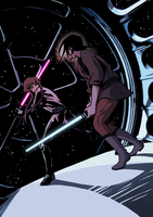 Random Jedi Fight by Mintonia