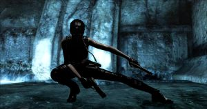Lara's Shadow fighting by condemned2love