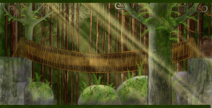 Forest Bridge by shade59