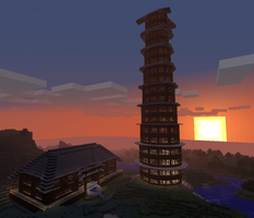 Minecraft Castle and Tower 02 by SpectralDraconicWolf