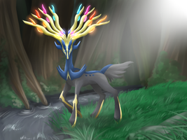Xerneas by FENNEKlNS
