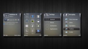 Grey theme for nokia by Foodgoes
