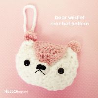 kawaii bear wristlet crochet pattern by hellohappycrafts