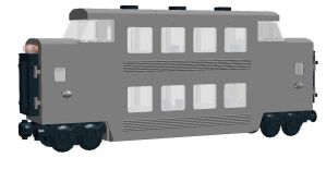 Lego Double-Decker Passenger Car by steamrailwilly