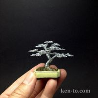 Informal upright wire bonsai tree by Ken To by KenToArt