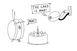 Fight Over Cake by Cartoon-Eric