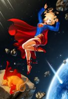 Supergirl and Streaky ALT by SoniaMatas by cerebus873