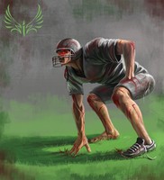 Blood football player by 19MiM90