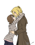 COMMISSION Ed Elric x Audrey for meg15warrior by Akuma-no-Atisuto