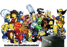 Marvel Super Simpsons by Rhyno777