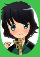 My friend anime style- cuz noodles. by Hamzilla15