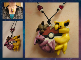 Eevee Evolution Polymer Necklace by LittleBachman